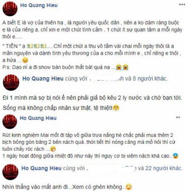 Đáp trả 'thánh soi' dòm ngó, Hồ Quang Hiếu nổi điên 'mắng' cả facebook - Ảnh 5