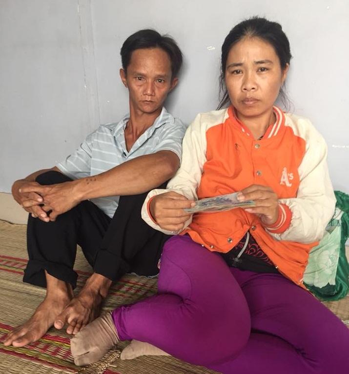 Vợ chồng chị Trần Thị Diệu Linh
