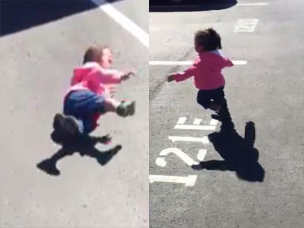 Chết cười với clip em bé khóc thét chạy trốn cái bóng của mình - Ảnh 2