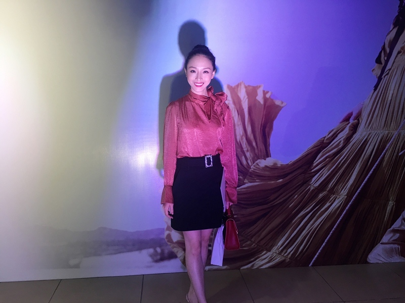Trương Hồ Phương Nga cười rạng rỡ trong một sự kiện tối 20/3 tại Hà Nội.