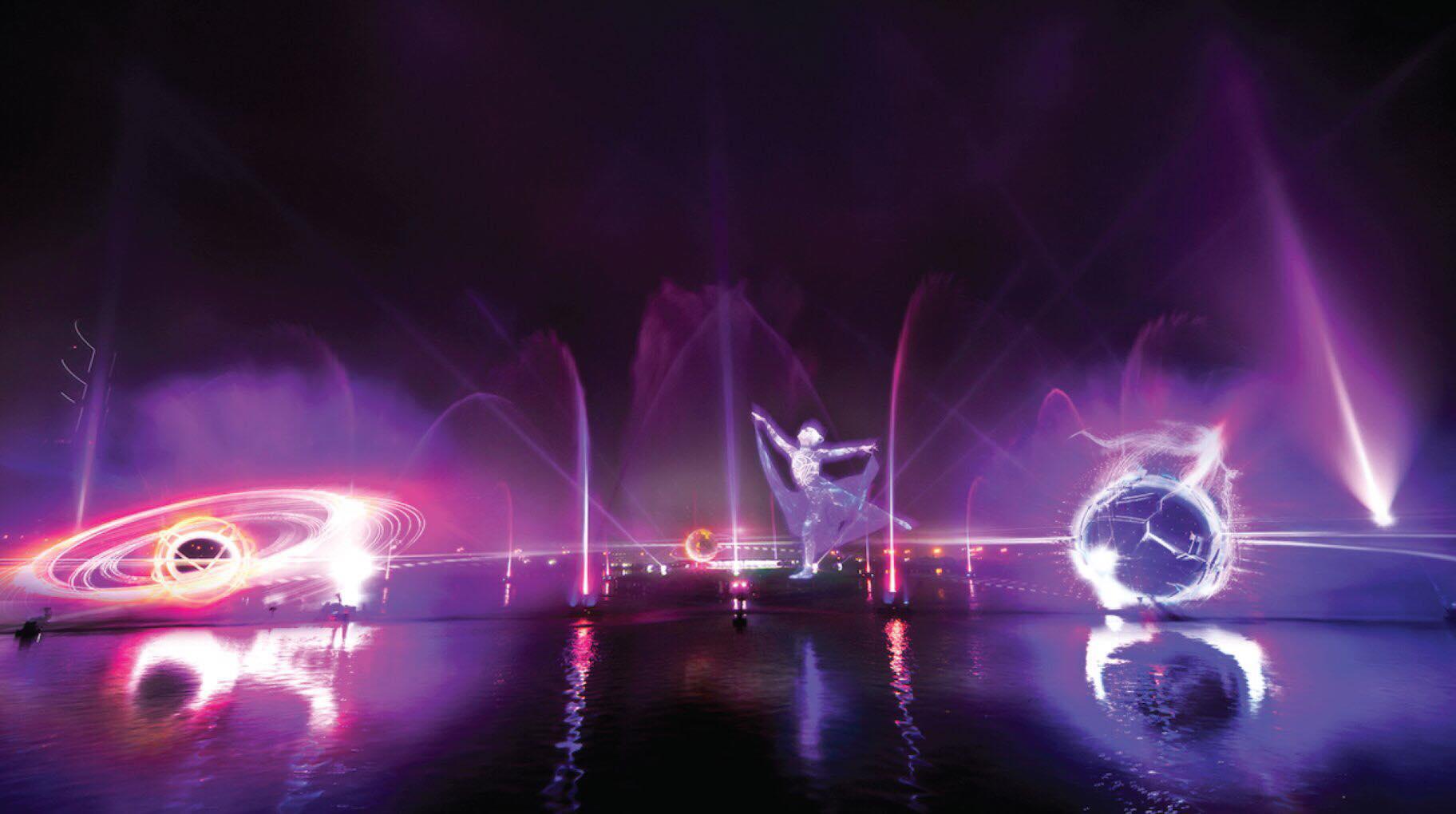Đầm Sen chính thức khai trương công nghệ laser – màn hình nước 3D chào mừng đại lễ 30/4 - 1/5 - Ảnh 1