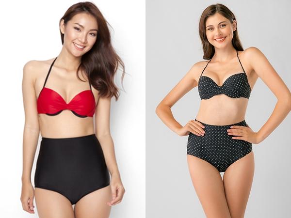 Mẫu quần bikini lưng cao sẽ là lựa chọn hoàn hảo đủ để che đi khuyết điểm ở bụng của chị em công sở