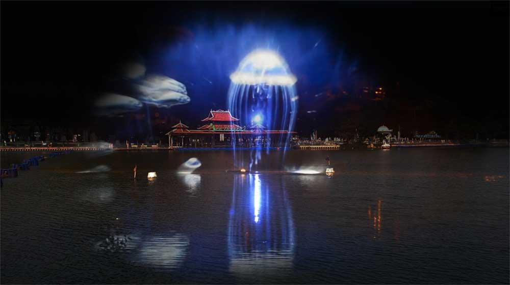 Đầm Sen chính thức khai trương công nghệ laser – màn hình nước 3D chào mừng đại lễ 30/4 - 1/5 - Ảnh 2