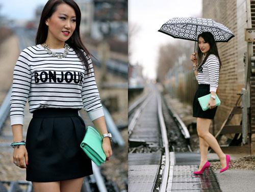 Kiểu áo rộng thoải mái vừa đẹp vừa trẻ trung cho ngày mưa