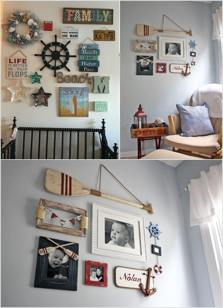 Ý tưởng trang trí tường nhà sáng tạo lấy cảm hứng từ biển - Ảnh 3