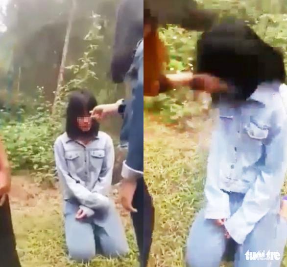 Nhóm nữ sinh Nghệ An tát, bắt nữ sinh lớp 7 quỳ gối - Ảnh 1