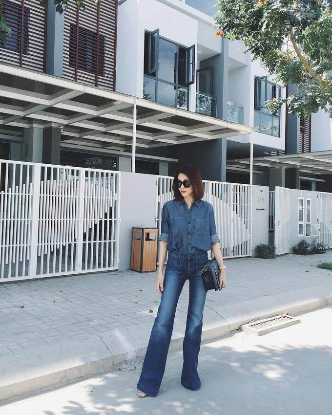 Hà Tăng, Tóc Tiên cùng loạt sao Việt 'thả dáng sành điệu' với quần ống loe - Ảnh 1