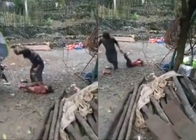 Phẫn nộ clip cha đánh đập con gái 10 tuổi dã man rồi buộc chân kéo lê sau xe máy - Ảnh 1