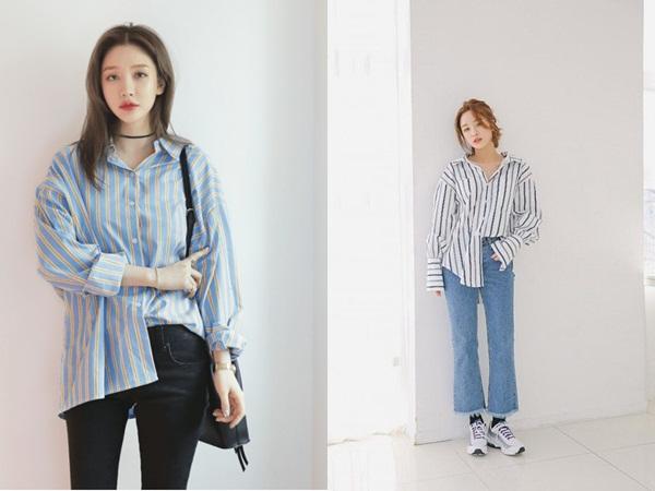 Áo sơ mi và quần jeans sẽ tạo nên một set đồ đơn giản nhưng vẫn cool thật cool