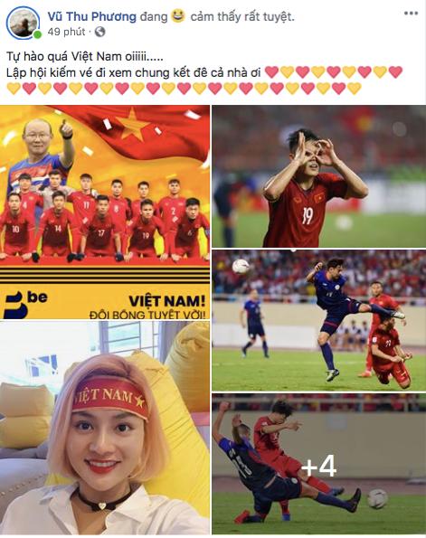 Tiểu Vy, H'Hen Nie đang thi nhan sắc quốc tế cũng rộn ràng mừng chiến thắng của ĐTVN - Ảnh 5