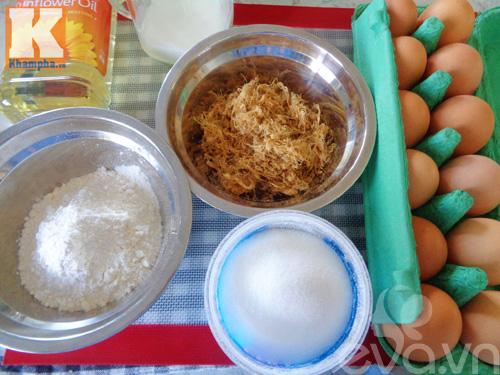 Đổi vị với bánh bông lan cuộn ruốc siêu ngon cho bữa sáng - Ảnh 1