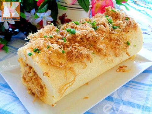 Đổi vị với bánh bông lan cuộn ruốc siêu ngon cho bữa sáng - Ảnh 4