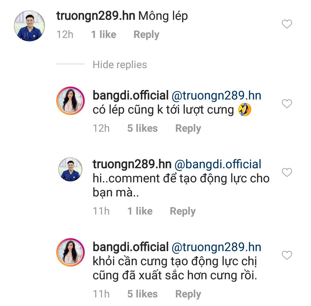 Màn phản pháo cực gắt trên Instagram của Băng Di.
