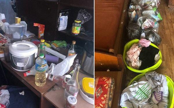 Dân mạng phát khiếp phòng trọ như 'bãi rác'  của 3 nữ du học sinh - Ảnh 1
