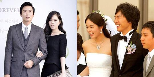 Tình yêu hạnh phúc của Han Ga In và Yun Jung Hoon khiến nhiều người ngưỡng mộ - Ảnh: Internet