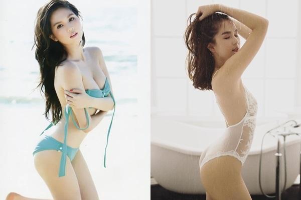Diện bikini sexy đốt mắt người nhìn nhưng Ngọc Trinh lộ vòng 1 lép xẹp