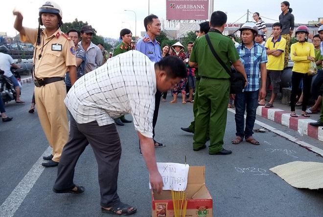 Tai nạn giao thông trên cầu Bình Phước 1 khiến anh thợ hồ tử vong