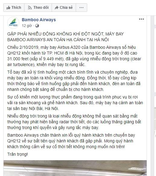 Máy bay Bamboo Airways rung lắc ở độ cao gần 10.000 mét khiến đồ ăn rơi tung tóe, hàng trăm hành khách hoảng hốt - Ảnh 3