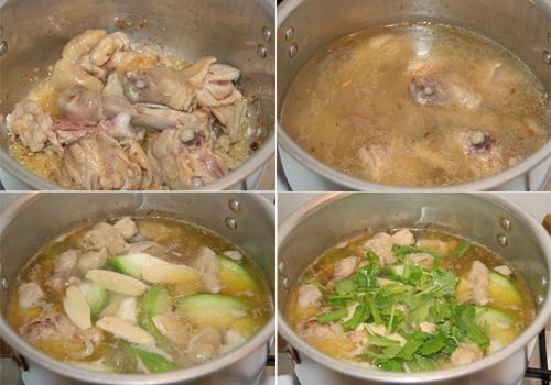 Ngọt vị canh bí nấu thịt gà - Ảnh 1