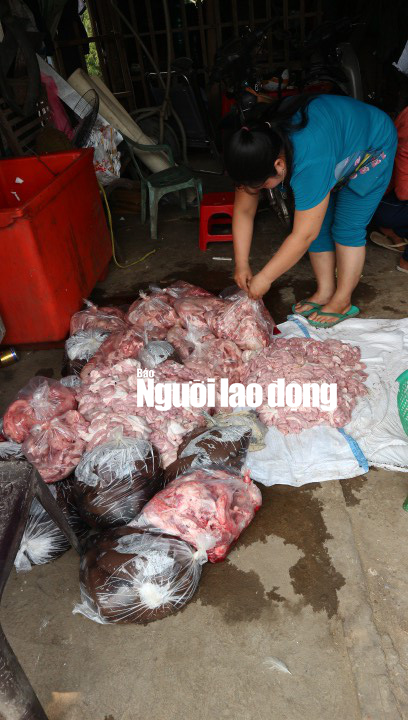 Phát hoảng với hơn 150 kg nội tạng heo và huyết bò hôi thối - Ảnh 1