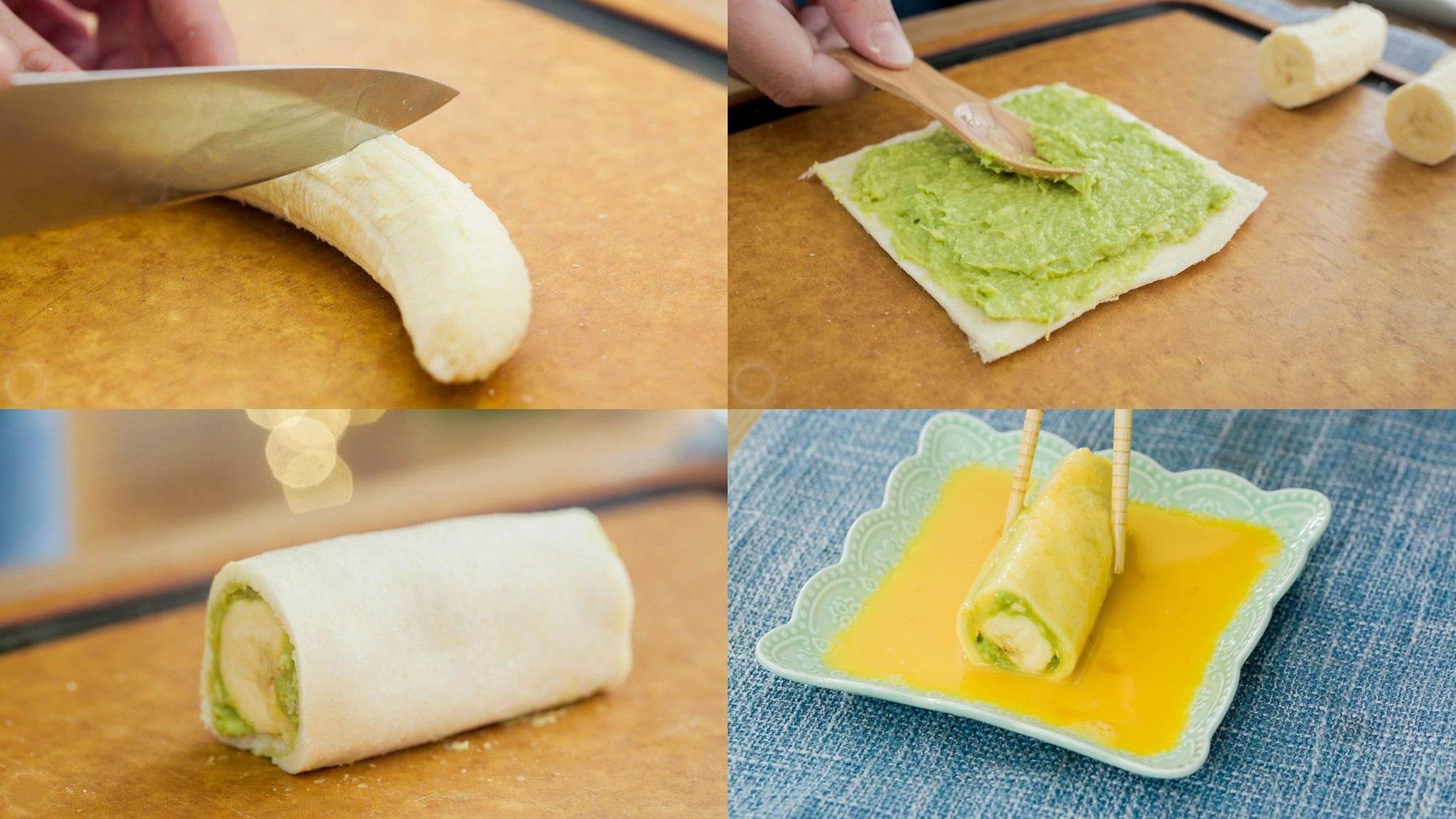 Bữa sáng ngon đẹp hết nấc với bánh mì cuộn chuối - Ảnh 2