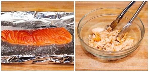 Bữa sáng sang chảnh với cơm rang cá hồi - Ảnh 1