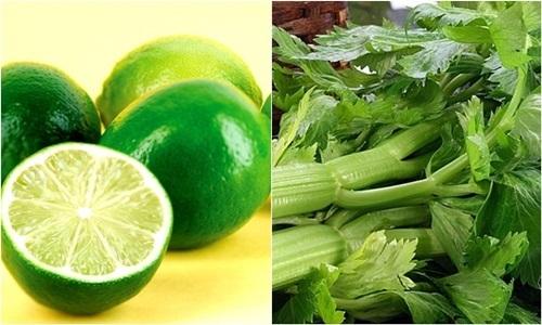 Nước uống giúp giảm cân nhanh chóng từ chanh và cần tây