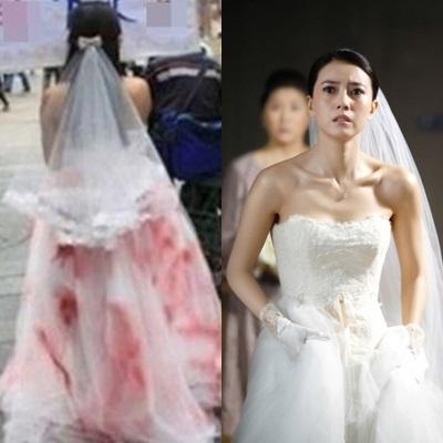 Mặc váy cưới dính đầy máu bước lên lễ đường, cô dâu vạch trần vị hôn phu giả dối - Ảnh 2