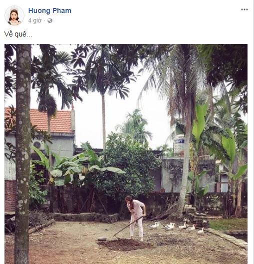 BTC Hoa hậu Hoàn vũ bị chỉ trích vô cảm: Host Phạm Hương lặng lẽ về quê cuốc đất khiến ai cũng bất ngờ - Ảnh 1