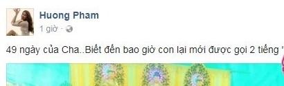 Hoa hậu Phạm Hương bị dân mạng chỉ trích nặng nề khi phạm phải điều cấm kỵ trong lễ cúng 49 ngày của bố - Ảnh 1