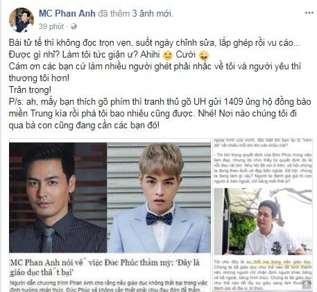 Bị chỉ trích là người hai mặt, <a target='_blank' href='https://www.phunuvagiadinh.vn/mc-phan-anh.topic'>MC Phan Anh</a> đanh thép đáp trả