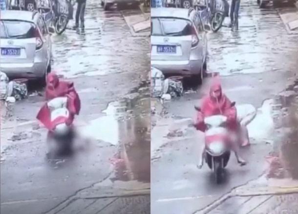 Phẫn nộ cảnh người phụ nữ vô tâm chạy xe chèn ngang người bé trai rồi thản nhiên bỏ chạy - Ảnh 1