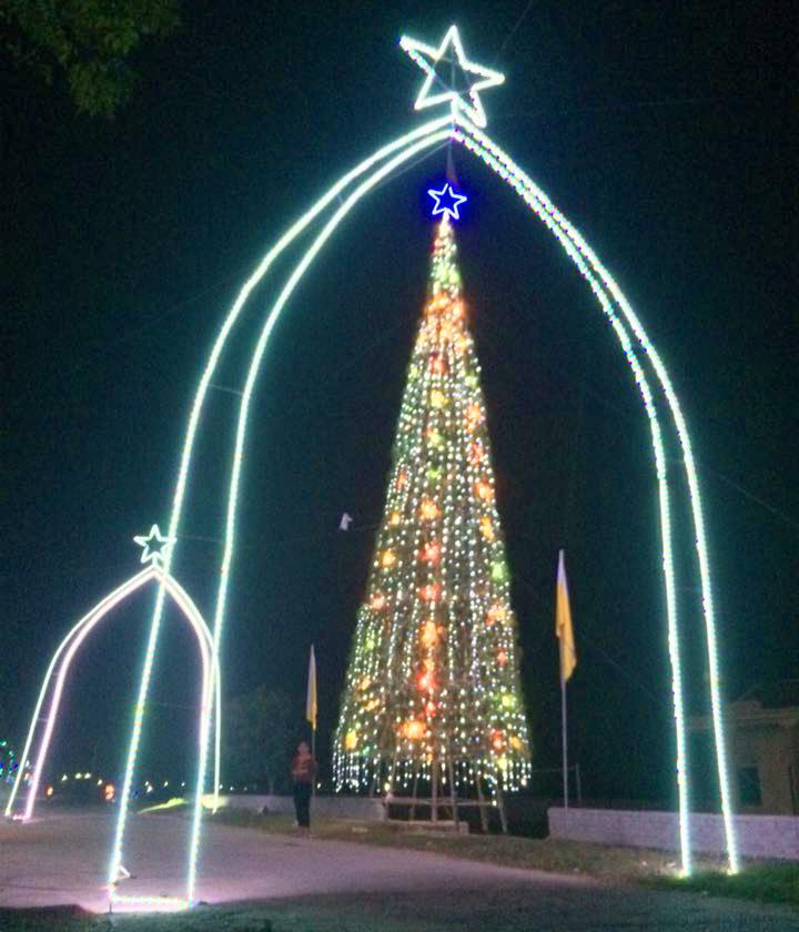 Cây thông cao 20m được kết từ hàng vạn cây hành tăm đón Giáng sinh độc nhất xứ Nghệ - Ảnh 8
