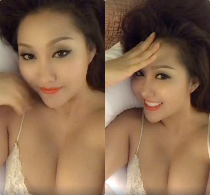 Phi Thanh Vân suýt nữa 'lộ hàng' khi khoe ngực khủng bên Quang Hà