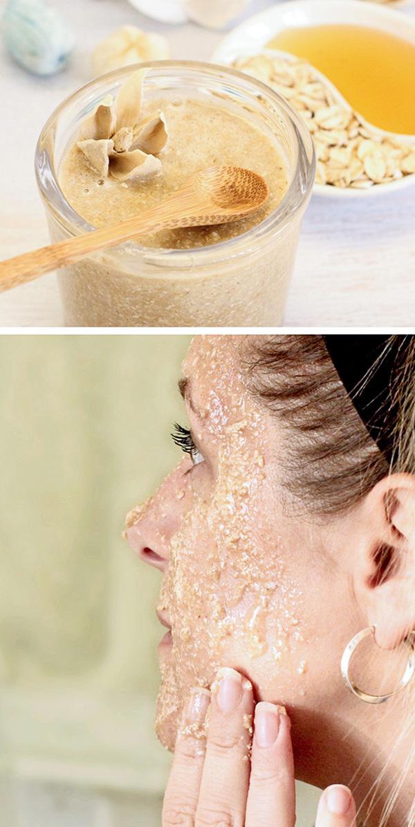 Mặt nạ mật ong và yến mạch giúp trị mụn, kích thích tái tạo tế bào da.
