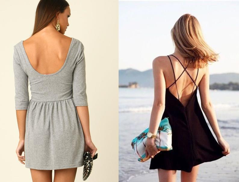 Cách mặc áo lót với đầm trễ hở lưng đơn giản