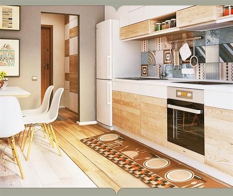 Bí quyết làm sáng bừng sắc gỗ nơi góc bếp - Ảnh 3
