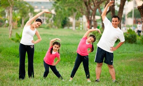 Tuyện tập thể dục để tăng cường sức đề kháng, nâng cao thể chất