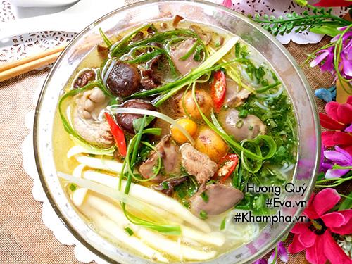 Bún tim gà nấu nấm thơm ngon bổ dưỡng - Ảnh 4