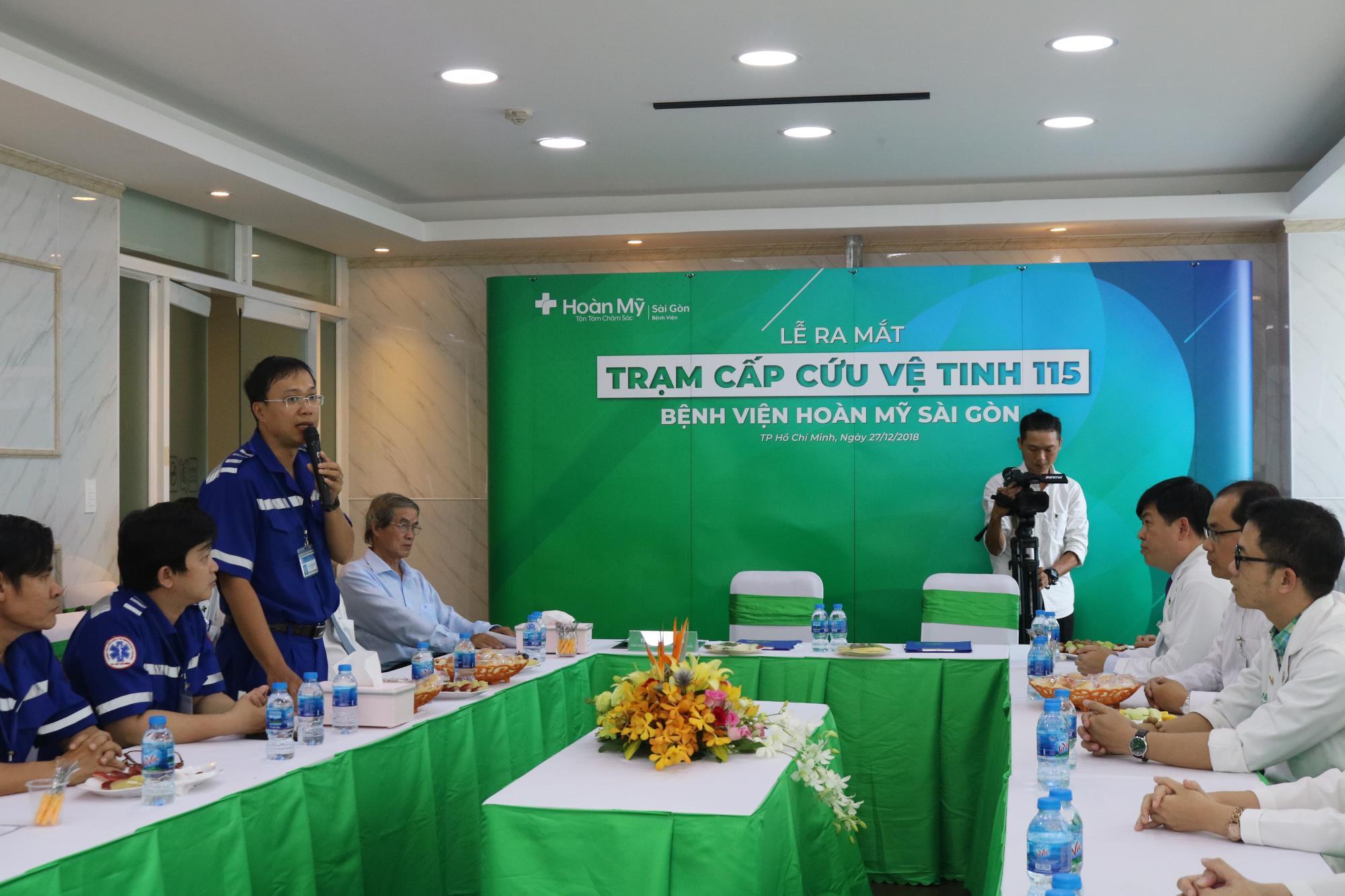 Bác sĩ Nguyễn Duy Long, Giám đốc Trung tâm Cấp cứu 115 TP HCM cho biết đây là trạm vệ tinh thứ 27 của hệ thống cấp cứu ngoại viện