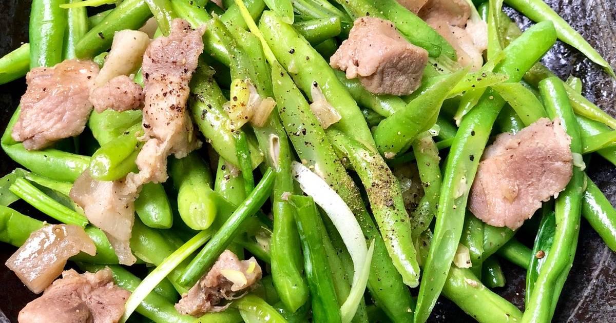 Món đậu cô ve xào thịt heo cung cấp nguồn vitamin, protein và khoáng chất cần thiết cho cơ thể