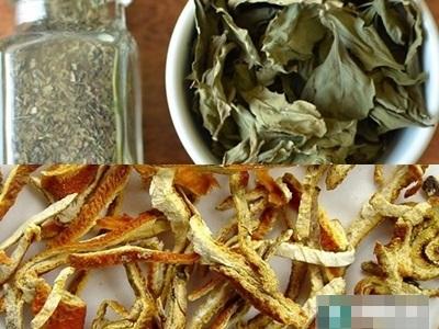 Phương pháp tẩy trắng răng với rau húng quế và vỏ cam - Ảnh: Internet