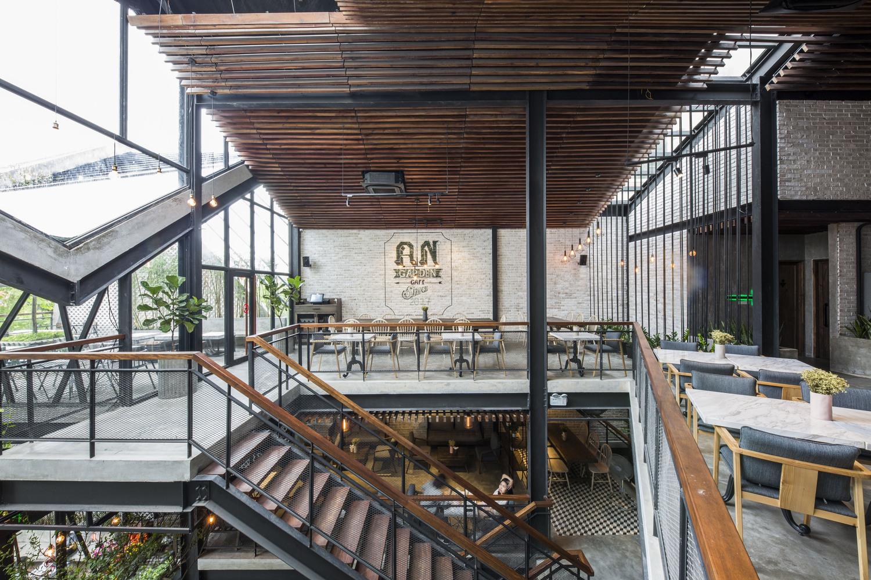 Thiết kế táo bạo: Mang vườn treo vào quán cà phê - Ảnh 4