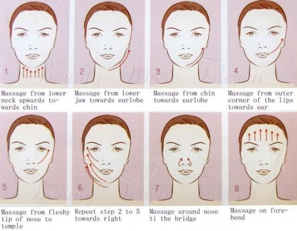 Hướng dẫn chi tiết từng bước massage mặt tại nhà 'chuẩn' spa, da căng bóng, trắng hồng chẳng cần viên uống chống lão hóa - Ảnh 3