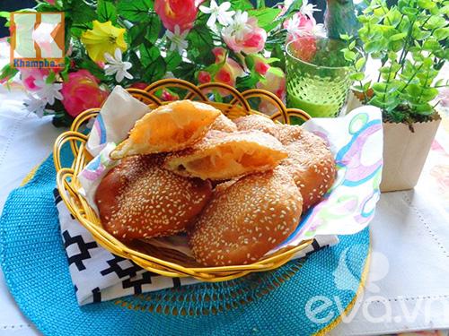 Làm bánh tiêu thơm ngon, nóng hổi ngày mưa - Ảnh 3
