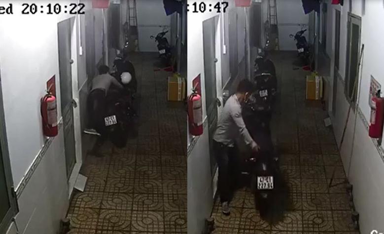 Nam thanh niên vào tận khu trọ trộm xe Exciter ở Thủ Đức - Ảnh 1