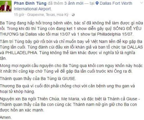 Showbiz Việt tuần qua: Người tiễn biệt bố, người bất lực kêu gọi giúp đỡ trên Facebook - Ảnh 4