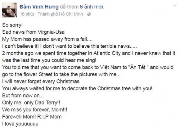 Showbiz Việt tuần qua: Người tiễn biệt bố, người bất lực kêu gọi giúp đỡ trên Facebook - Ảnh 2