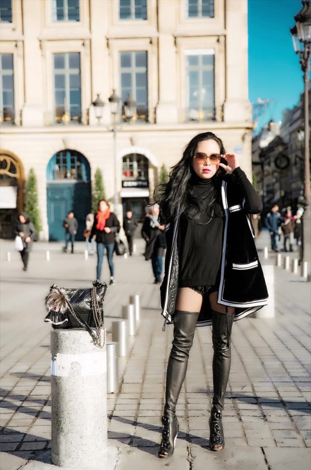 Diện mốt quần lạ dạo phố Paris, Phượng Chanel khiến Quách Ngọc Ngoan không dám rời mắt - Ảnh 5