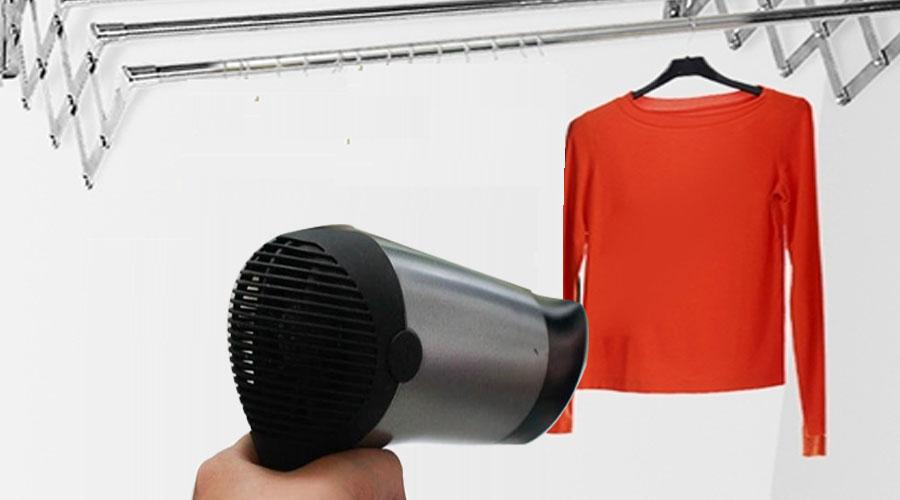 Giúp quần áo không bị giãn khi dùng máy sấy tóc